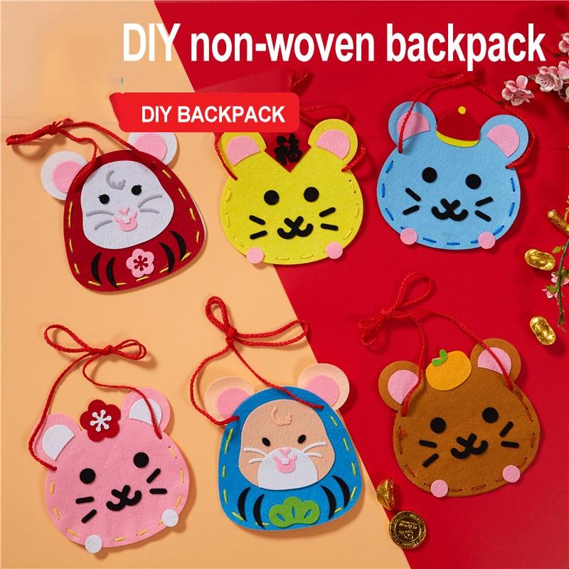 Sewing Crafts Kids Women Bag Children's Toys Kindergarten Diy Learning Education Crafts Kids Toys For Girls Toys For Children 04