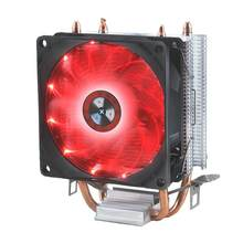 Eficiente de refrigeração universal cpu cooler fan 3pin para intel lga 1150 1151 1155 1156 775 i3 i5 i7 amd am2 am3 am4 silencioso volume ar(China)
