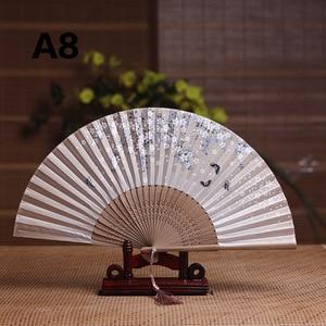 Image 5 - Seide Weiblichen Fan Chinesischen Japanischen Stil Klapp Fan Hause Dekoration Ornamente