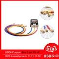 Холодильное зарядки шланги 3 шт./компл. 1,5 M r R134a R410a R22 R12 R502 тест 550 Кондиционер Инструменты манометр