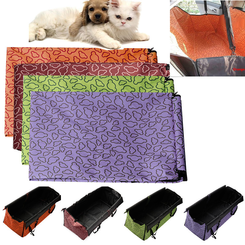 130X150X55cm Pet Car Mat Luxury Printed Pet Car Dog Cushion Adjustable Folden Cushion Fits Most Vehicles For Safety of Dogs