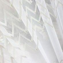 Североевропейский стиль простой хребет Дизайн вышивка окна экран габаритный занавесц с пряжей-нулевой сдвиг настраиваемый готовой