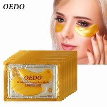 60 шт = 30 упаковок красивые золотые кристаллические коллагеновые патчи для ухода за кожей глаз для темных кругов, отечности, морщин и мешков гель для глаз