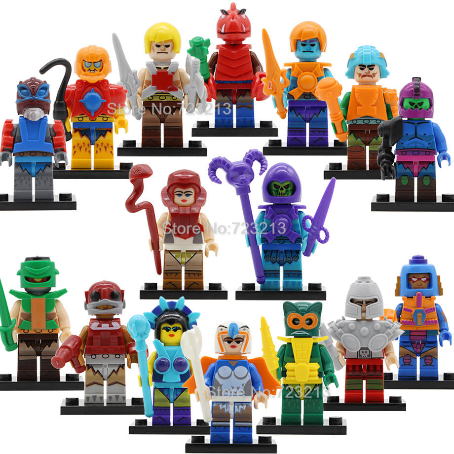 Single Sale HE-Man MASTERS Figure Set Ram Man PAKER Ske Letor Sorce Zodak Rattlor TRI-KLOPS Building Block Models Toys Legoing