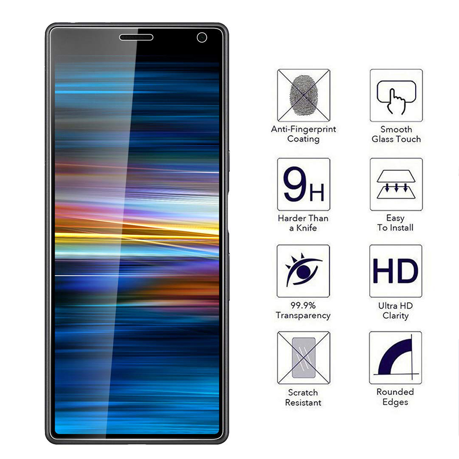 Image 2 - 9H Tempered Glass For Sony Xperia 10 Protective Glass For Sony Xperia 10 Plus XA3 XZ4 1 Tempered Glass Screen Protector Film-in Phone Screen Protectors from Cellphones & Telecommunications
