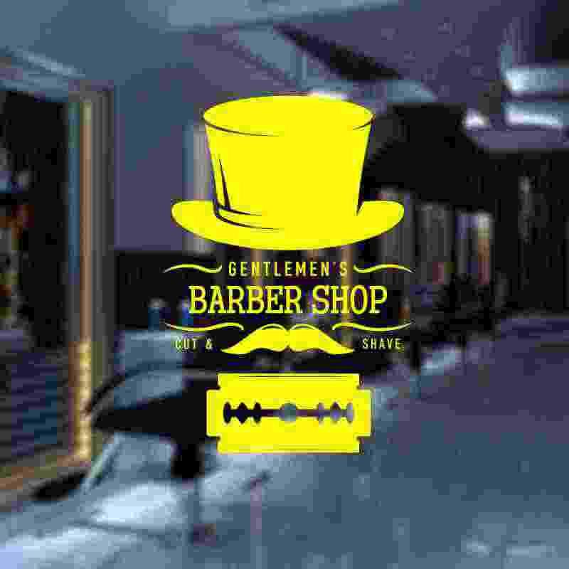 Barbería pegatina personalizada Chop Bread calcomanía pósters vinilo pared arte decoración ventanas corte de pelo afeitadoras calcomanías