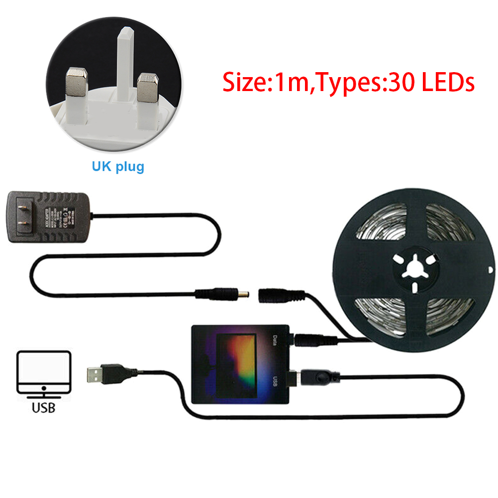 LED Strip Light Kit RGB USB Durable Dream Color Easy Install Computer Screen Monitor Adhesive Ambient For Desktop PC TV Back