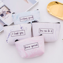 Letter Women Wallet Kids Coin Purse Small Fresh Stone pattern Simple Zipper Female purses Card Bag children's Pouch(China)