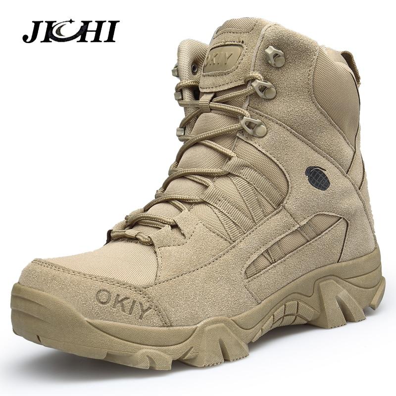 Botas do exército botas militares homens botas táticas zip exército tático deserto combate botas de segurança sapato neve couro inverno outono marrom