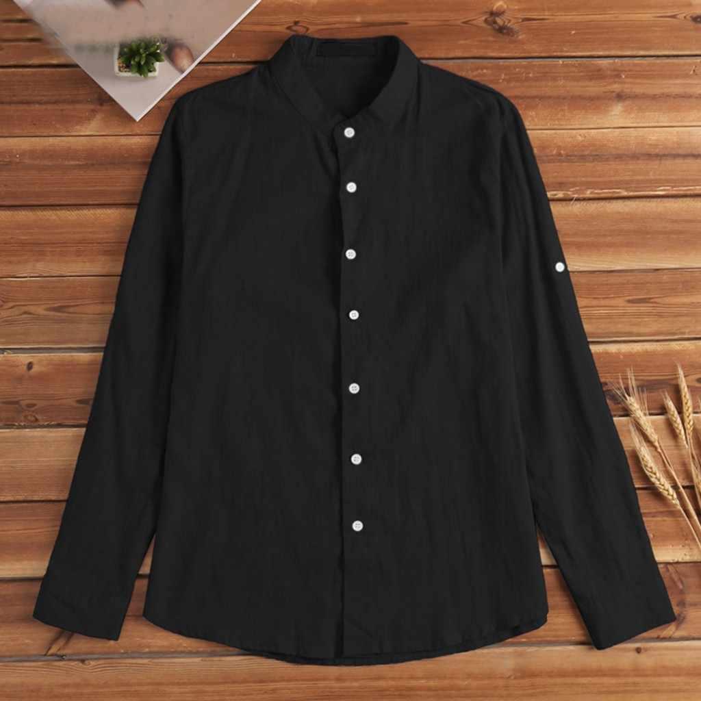 男性のシャツ夏新スタイルファッショナブルな純粋な綿とリネンシャツ高品質快適な男性シャツトップブラウス