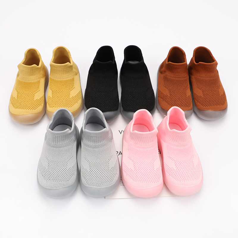 2020 Autumn Baby Girls Boys Casual Shoes Soft Bottom Toddler Shoes Comfortable Non-slip Outdoor Children KIds Knitted Shoes