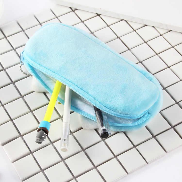 Wypchane zwierzęta Peluche zabawki dla dzieci futerał na przybory do pisania materiały biurowe miękkie zabawki pluszowe zabawki dla dzieci dla dzieci Kawaii jednorożec
