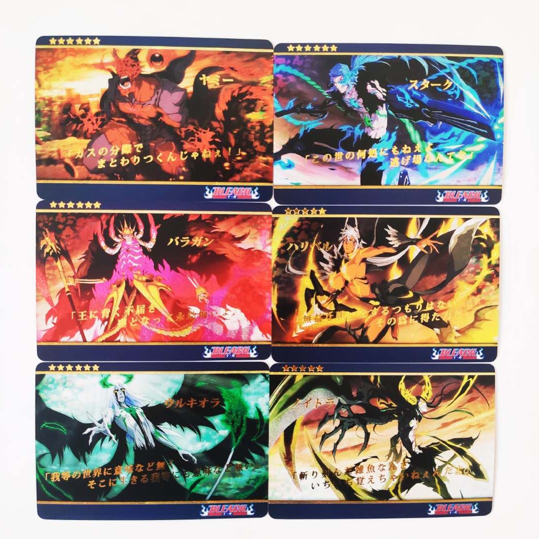 11pcs/set BLEACH Espada Gotei 13 Bronzing Aizen Sousuke Hobby Collectibles Game Collection Cards