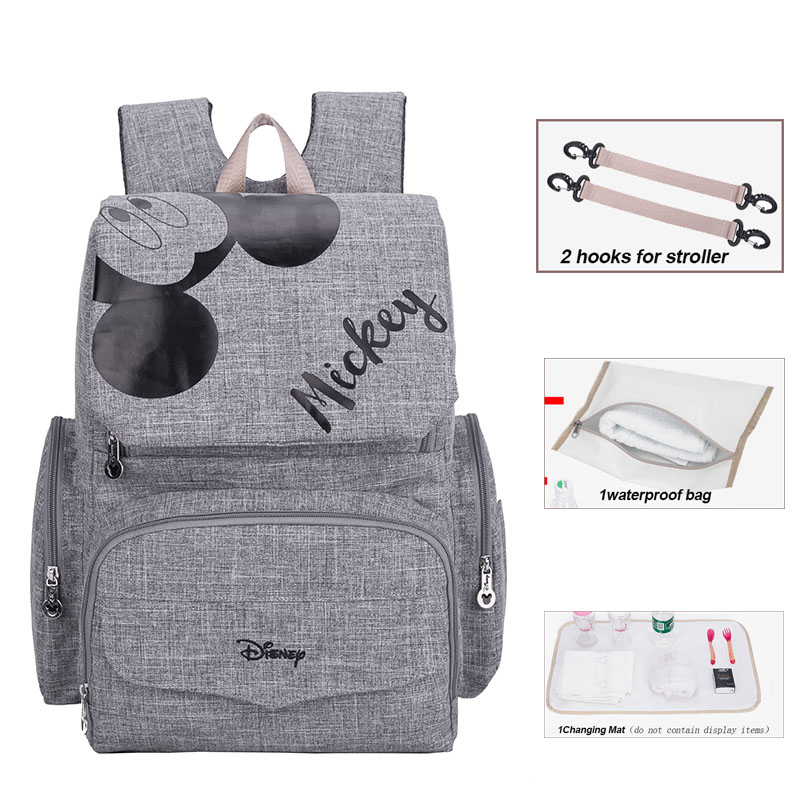 Disney Diaper Bags  Minnie Mummy Maternity Nappy Bag  Women Travel Backpack Designer Nursing Bag For Baby Care Diaper Bag