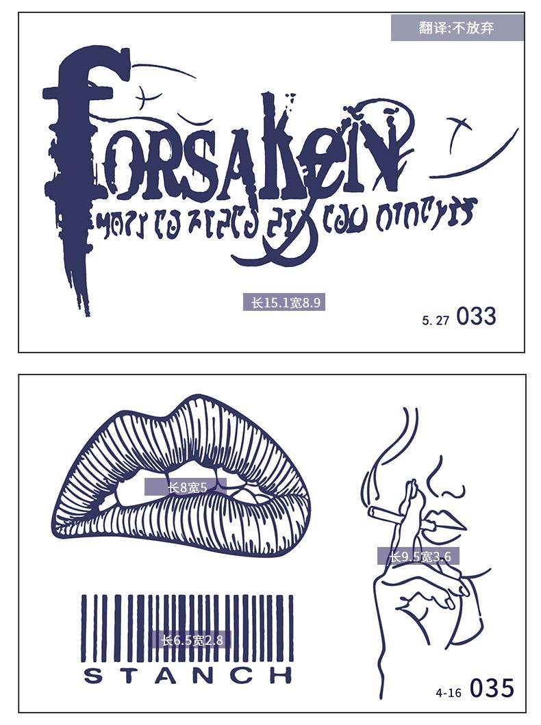 5pcs Temporary Henna Tattoo Stickers Hot Tattoo Paste Waterproof Fake Body Art Tattoo Stickers Tool Microblading Accessories 5