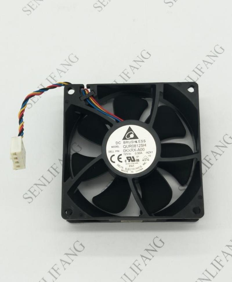 Brand  For Delta QUR0812SH 8025 12V 0.5A 8CM PWM Fan Speed Control Speed 800-4400RPM
