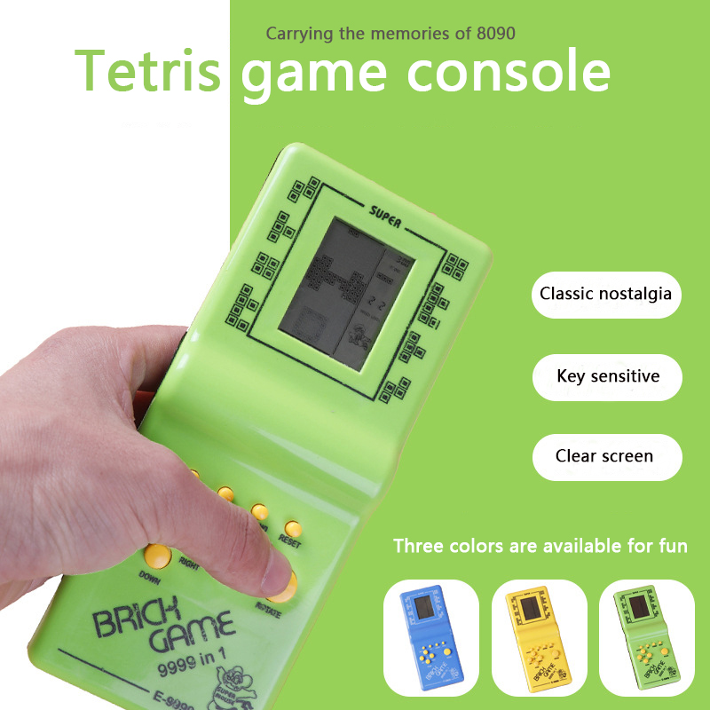Classic Handheld Game Console Tetris Tank Snake Racing Car Game Children's Educational Portable Game Console Toy Gift