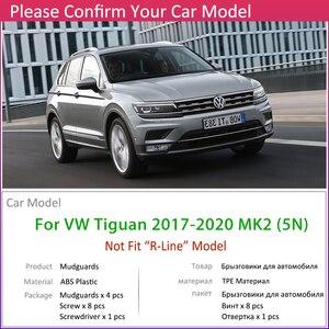 Image 3 - 4 PCS Car Mudflaps For Volkswagen VW Tiguan 5N 2017 2018 2019 2020 MK2 Fender Mud Guard Flaps Splash Flap Mudguards Accessories