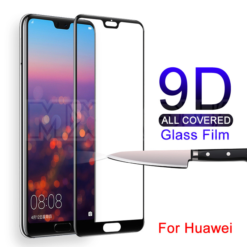 9D Tempered Glass on For Huawei P20 Pro Lite Screen Protector Film For Huawei Nova 5 5i 5T 4 4E 3 3i 3E P Smart Protective Glass