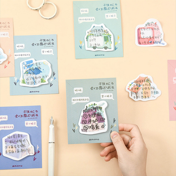 1X Creative house Series Memo Pad weekly plan Sticky Notes Post  stationery School Supplies Planner Paper Stickers 1x cute wreath post it notes weekly plan sticky notes post it memo pad kawaii stationery school supplies planner stickers paper