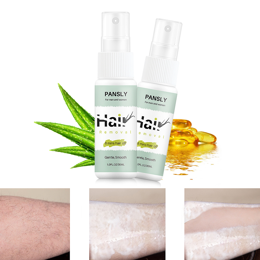30ml Natural Aloe Ingredients Fast Body Gentle Moisturizing Hair Removal Spray Mild Moisturizing Non-Irritating TSLM1