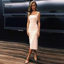 Verngo ง่ายชุดราตรีสั้นอย่างเป็นทางการชุดพรรค Gown Ivory พรหมวันวาเลนไทน์ชุดราตรีชุดราตรี 2019