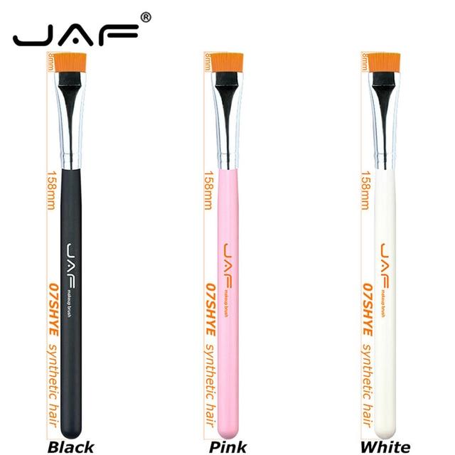 JAF 1 PCS Eye Makeup Brush Flat Eyeliner Eyebrow Blending Beauty Make Up Brush Soft Nylon Hair 3 Colors for Choose 07SHYE 4