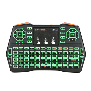 GTMEDIA i8X Plus испанская клавиатура с подсветкой 2,4 ГГц беспроводная клавиатура Air Mouse с тачпадом ручная работа для Android TV BOX PC