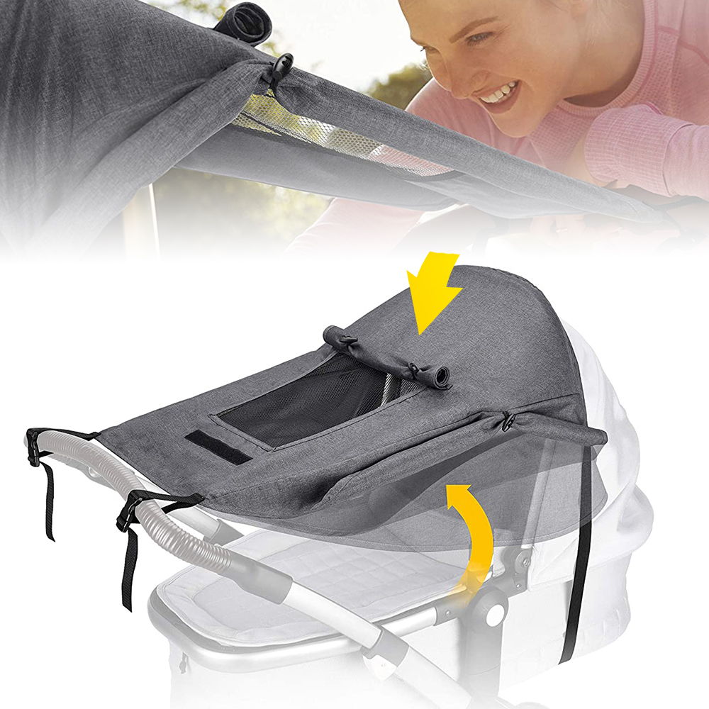 Infants Baby Stroller Sunscreen Awning Pushchair Safe Protection Awning Crib Cart Pushchair Canopy With Carry Cloth Bag