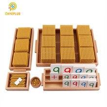Montessori Goldenen Perlen Set Kinder Bank Spiel Dezimalstelle System Lernen Werkzeuge Kind der Math Spielzeug Frühe Pädagogische Ausrüstung