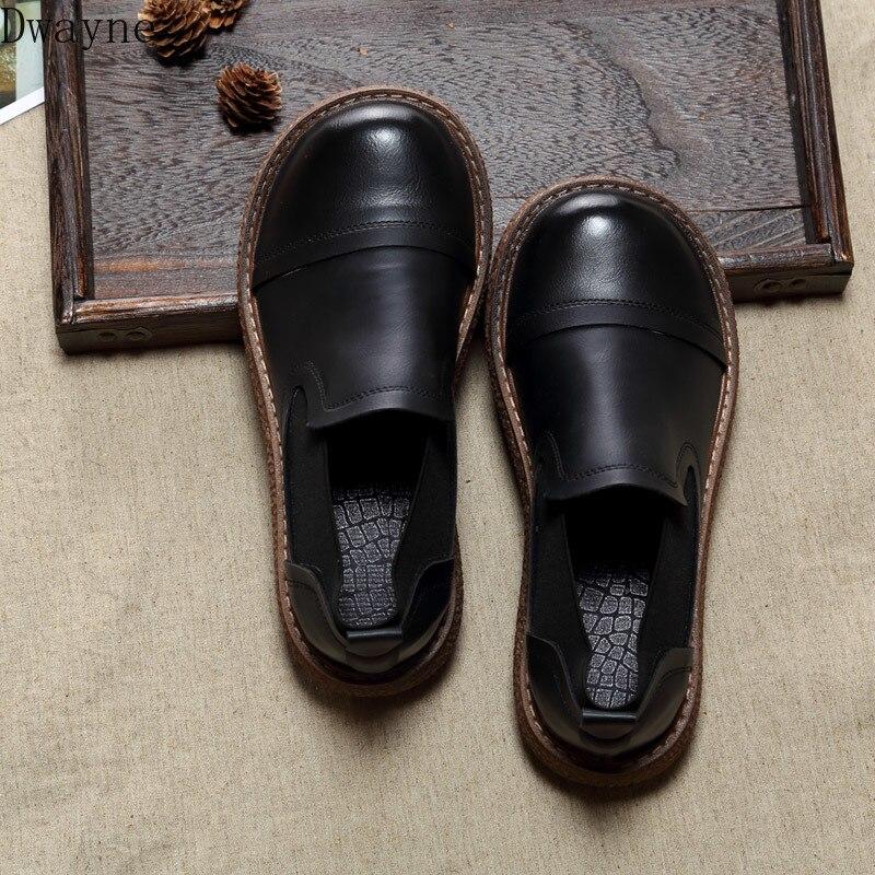 Japanese Harajuku Retro Flat Single Shoes Handmade Thick-Sole Casual Shoes Mori Literary Big Head Doll Shoes Simple Womens Shoes
