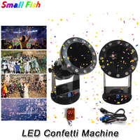 Free Shipping High Quality 1200W Led Wedding Confetti Cannon Machine Wedding Machine Confetti Machine Dj Equipments Dj Light