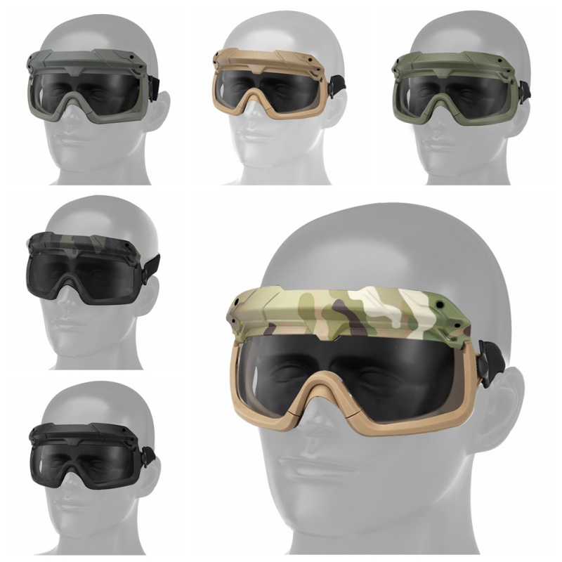 Motorcycle Windproof Tactical Airsoft Hunting Goggles Wargame Goggles Helmet Eyewear Paintball Eye Protect Sunglassesm