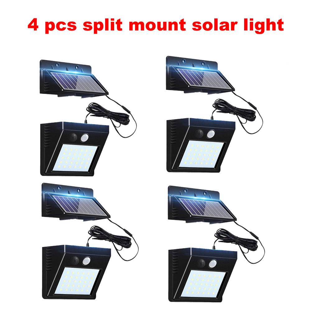 2-4pcs Outdoor 30 LED Solar Light Motion 3 Modes Waterproof Garden Street Yard Night Security Solar Lamp Wall+lamps Flood-lights