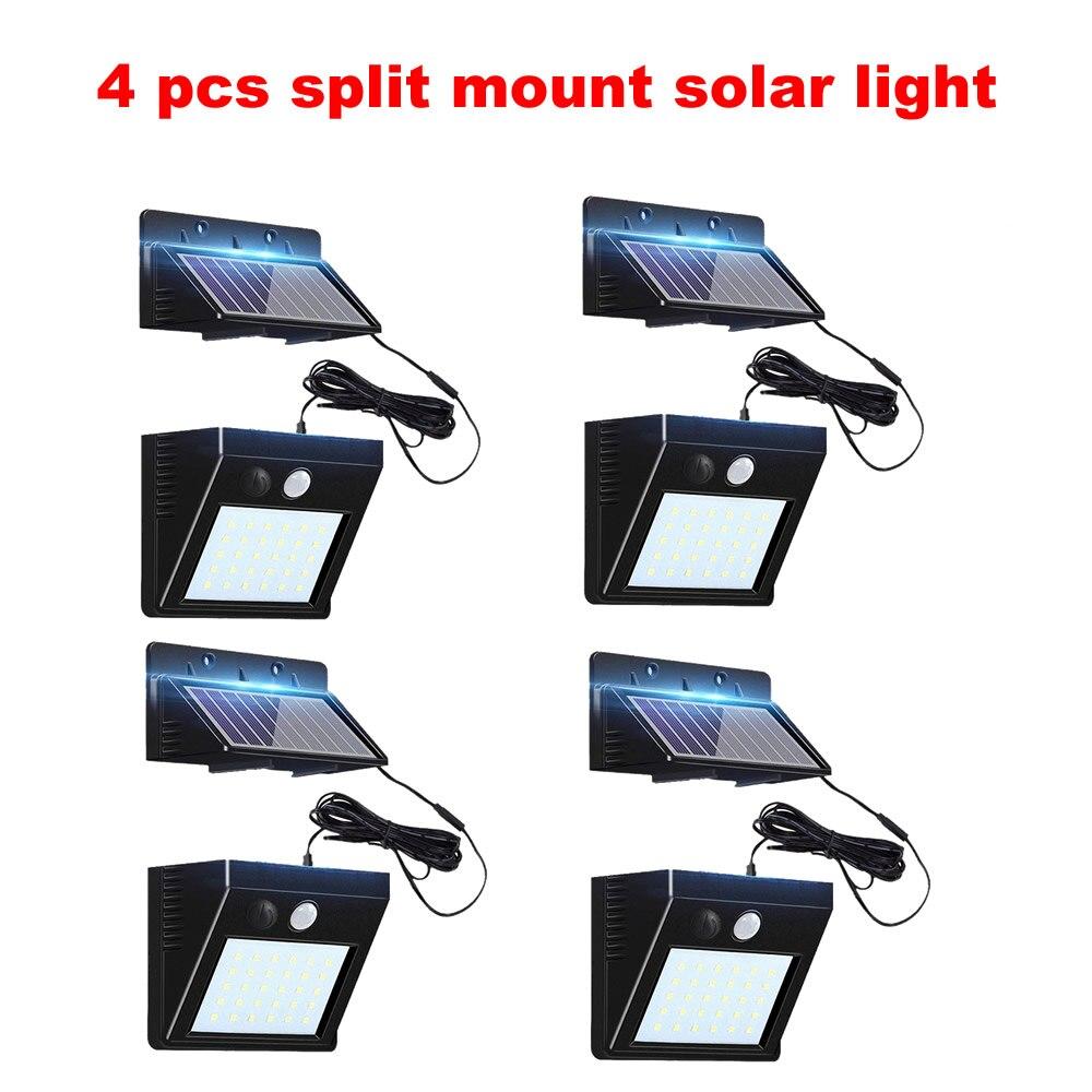 2-4pcs Outdoor 30 LED Solar Light Motion 3 Modes Waterproof Garden Street Yard Night Security Solar Lamp Wall+lamps Flood-lights