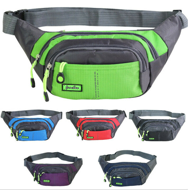 Unisex Waist Fanny Pack Belt Bag Waterproof Pouch Travel Sport Hip Purse*
