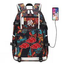 Cosplay Backpack Naruto Student School Luminous Shoulder Bag Satchel Laptop Rucksack Knapsack Teenager Casual Travel Gift