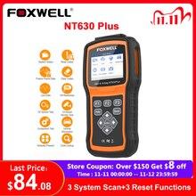 Foxwell escáner automotriz NT630 Plus OBD2, ABS, SRS, AirBag, reinicio, Universal, ODB2, lector de código, escáner OBD 2