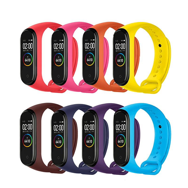 Strap Bracelet For Xiaomi Mi Band 4 3 Straps Silicone Watch Band For Xiaomi Bracelet Mi Band 3 4 Strap Wriststrap Bracelet