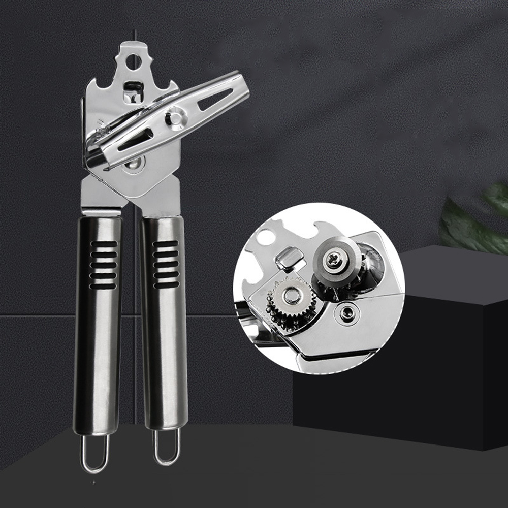 Professional Multifunctional Strong Stainless Steel Chrome Plated Kitchen Can Opener Beer Bottle Openers