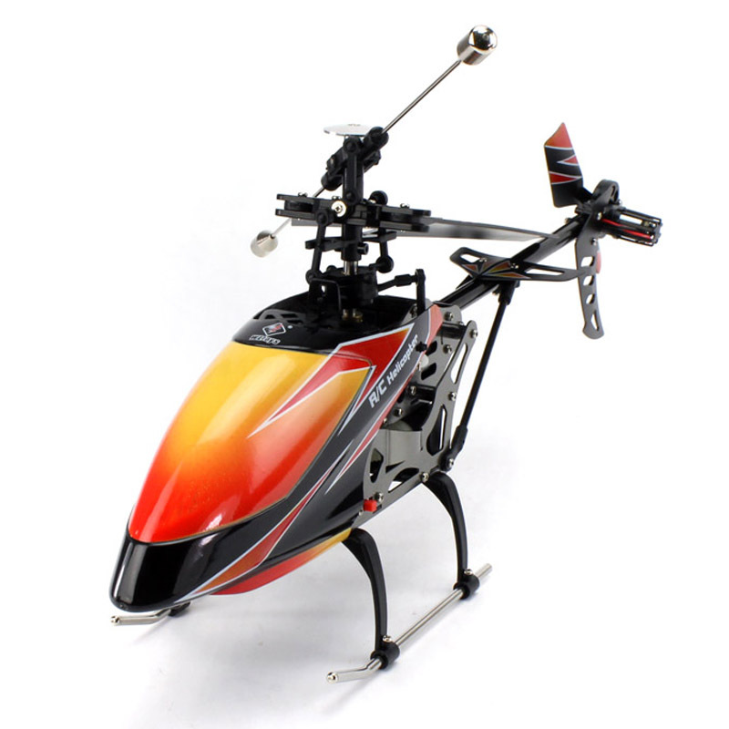 New Packaging Weili V912 Four-Channel Stand-up 2.4G Liquid Crystal Remote Control Helicopter Aviation Model Toy