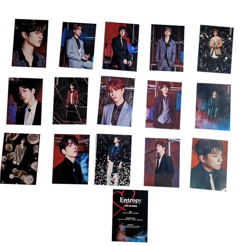 Kpop DAY6 New Album The Book Of Us : Entropy Groups Members Photo LOMO Card Portray Photo Postcards 16pcs/set