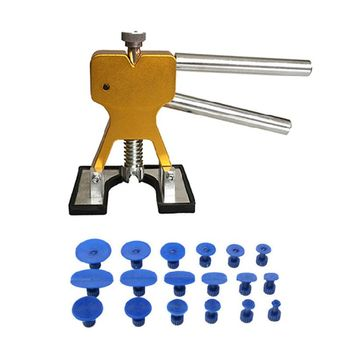 Car Sag Repair Tool Sheet Metal Puller Clip Puller Gasket Pull Set Gold 19 Pcs Set Pull Repair Combination фото