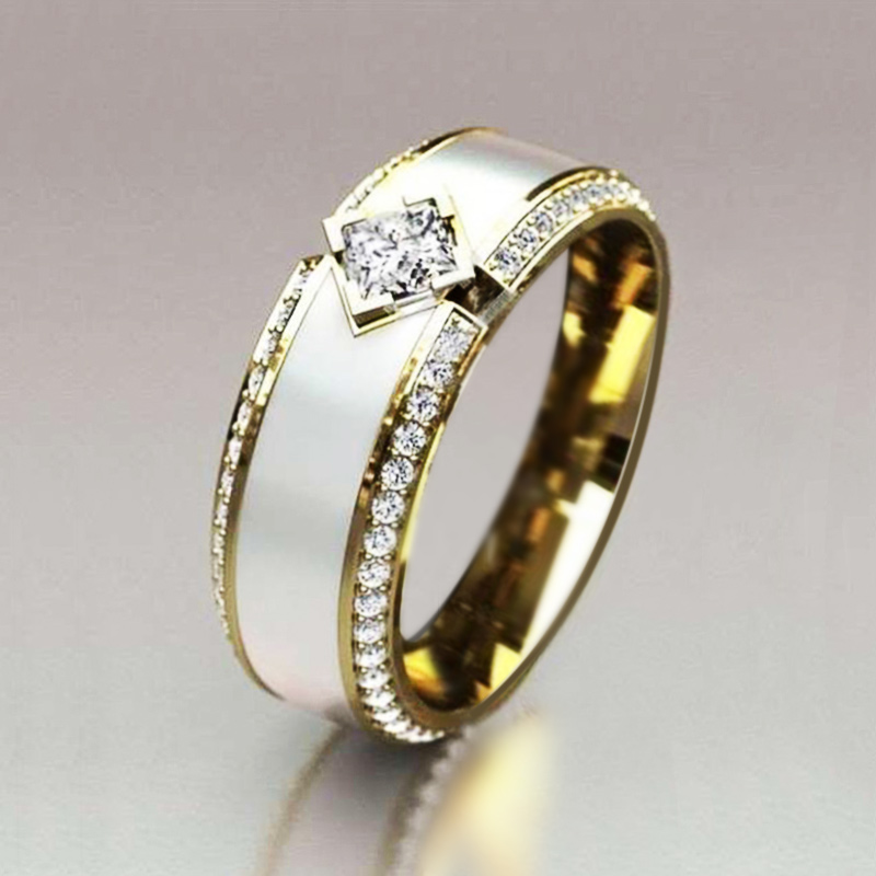 Shiny Cubic Zircon Ring