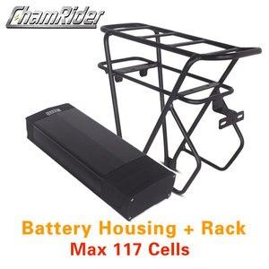 Image 1 - 48V ebike battery case 36V 52V 60V 72V Electric bike battery box 5V USB Double Layer luggage rack 10S10P 13S9P 14S8P 16S7P 20S5P