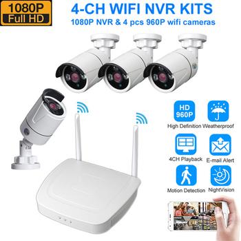 System CCTV bezprzewodowy System nadzoru zestaw 1080P 1 3MP System kamer do monitoringu domu zewnętrzne WIFI kamery systemu bezpieczeństwa tanie i dobre opinie DIDSeth 4CH Wireless CCTV Surveillance System Kit 4 SZTUK 1080 P 4 kanał