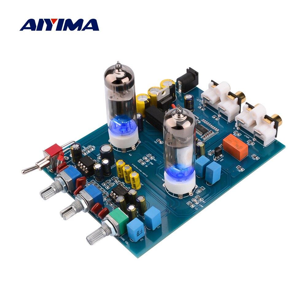 AIYIMA Bluetooth 6J5 ламповый преусилитель тон плата NE5532 усилитель тон доска с низкие/высокие частоты Регулировка громкости