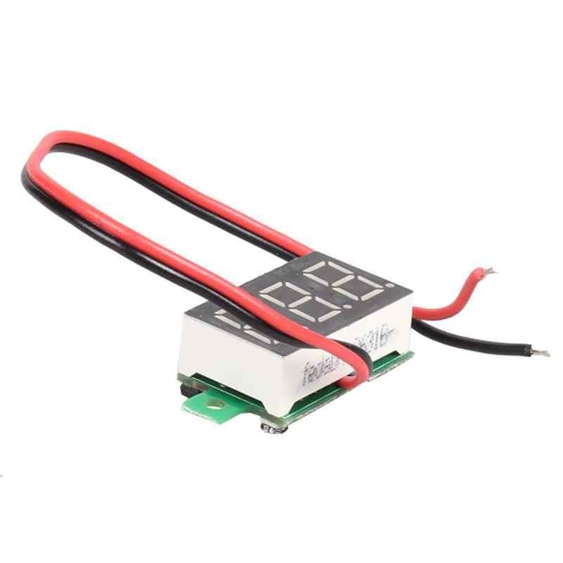 LCD voltmètre numérique ampèremètre Voltimetro rouge LED Amperimetro Volt mètre jauge tension mètre DC 2.5-30V haute qualité nouveau chaud 2018