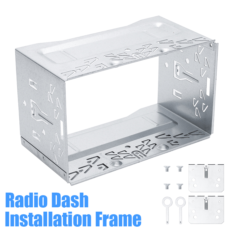 2 DIN Cage Radio Vehicle Case for Car DVD Player Frame Mounting Plate Iron Frame Plastic Panel with Hardware Accessory image