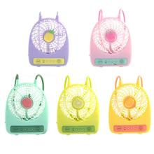 3 Modes Style USB Fruit Color Hand-held Desk Fan Cooler Handheld Air Conditioner Cooling Fan Summer Air Conditioner Cooler mini portable cooling fan hand battery fan cute held desk cooler air conditioner smaller air appliance machine for travel